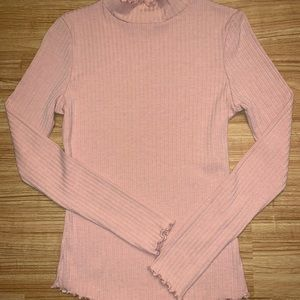 Pink Mock-Neck turtle from J.O.A